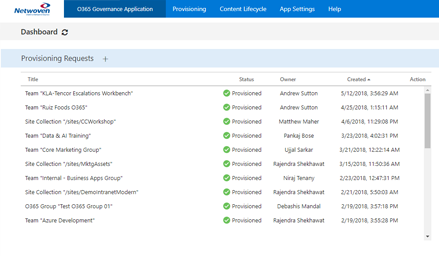 office 365 governance application