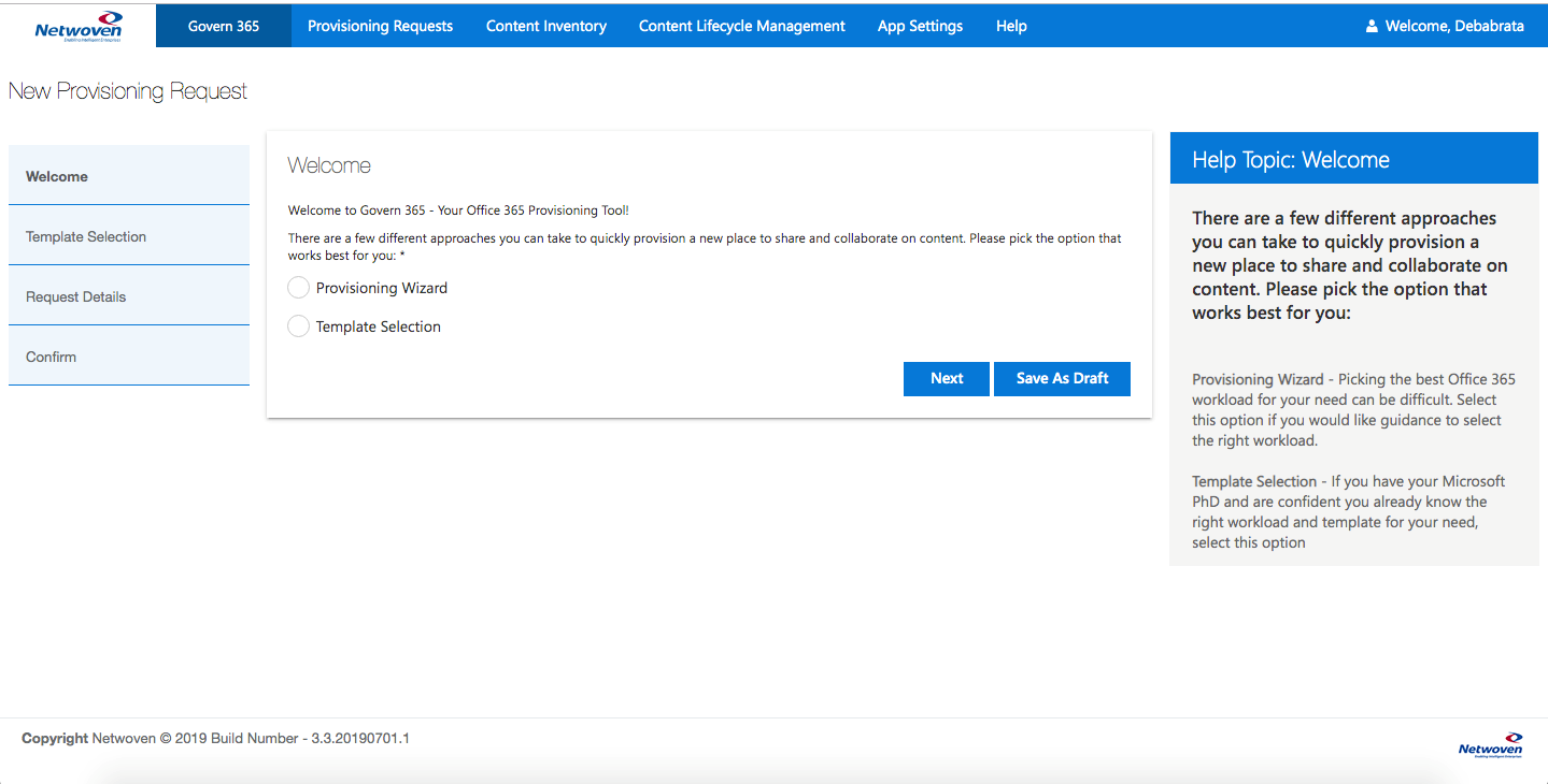 Govern 365 – Provisioning wizard for Office 365 Containers